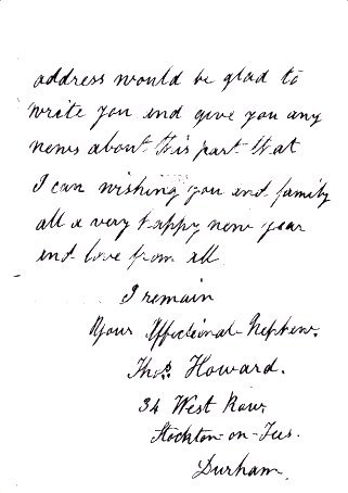 Thomas Howard's letter page 3